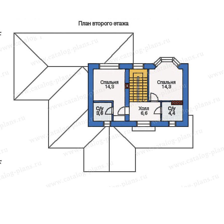 План 2-этажа проекта 33-23