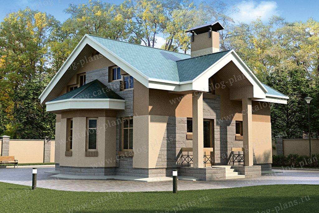 Проект жилой дом #33-01 материал - кирпич, стиль европейский