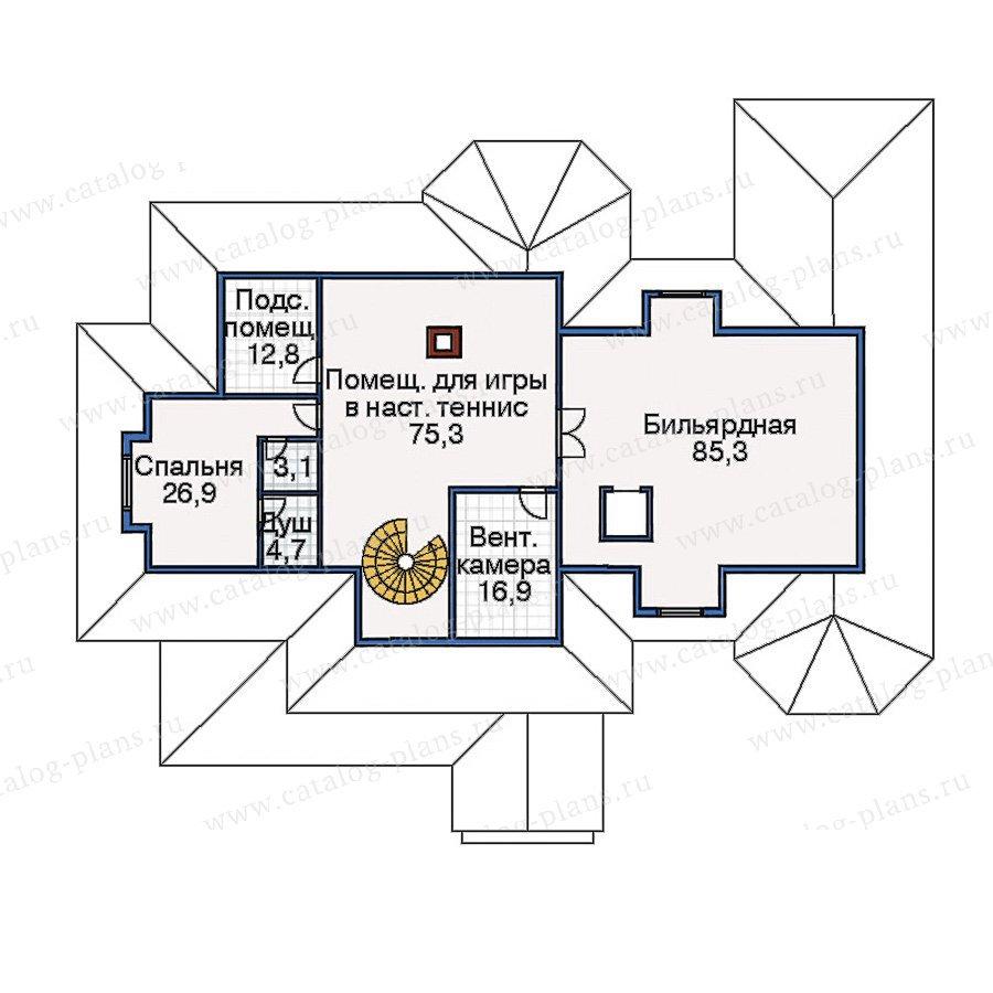 План 3-этажа проекта 33-64