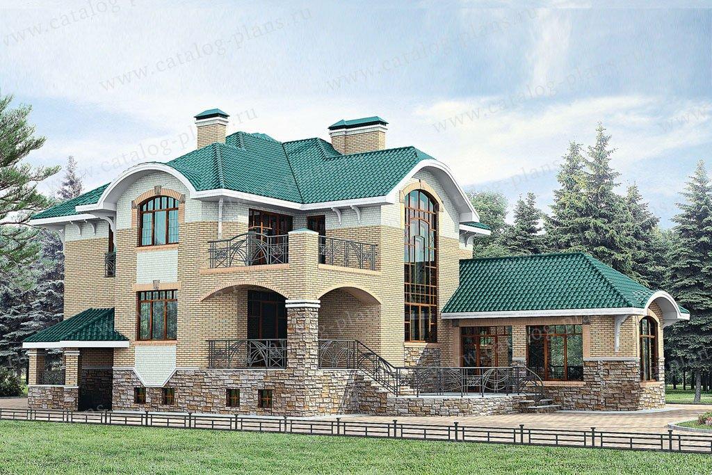 Проект жилой дом #33-43 материал - кирпич, стиль модерн