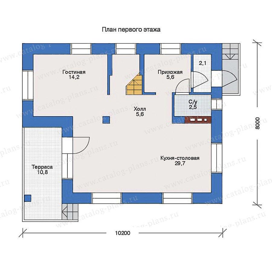 План 1-этажа проекта 33-06