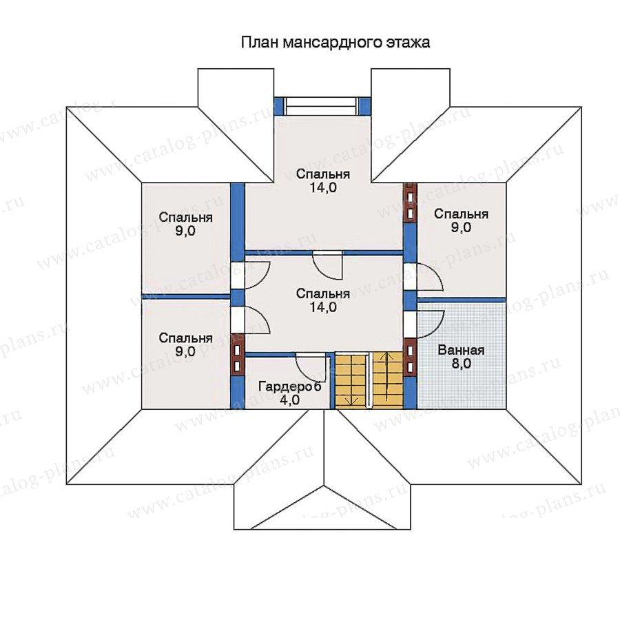 План 2-этажа проекта 33-02
