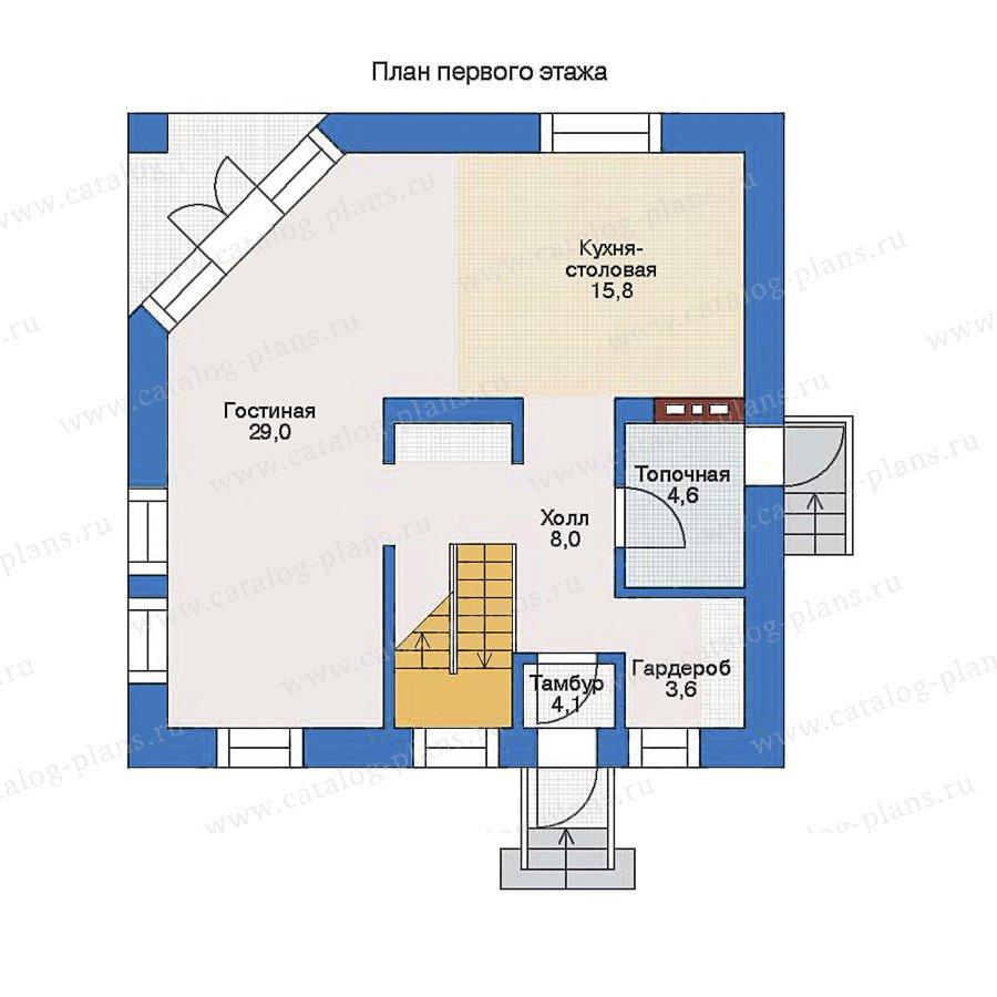 План 1-этажа проекта 33-72
