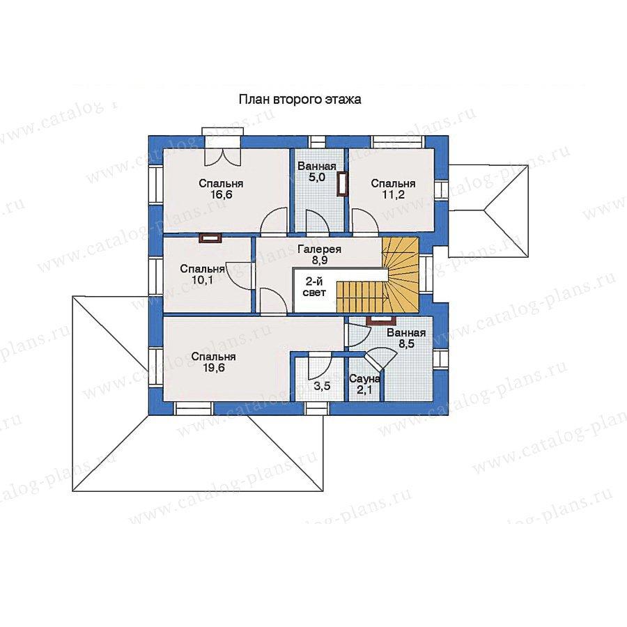 План 2-этажа проекта 33-28