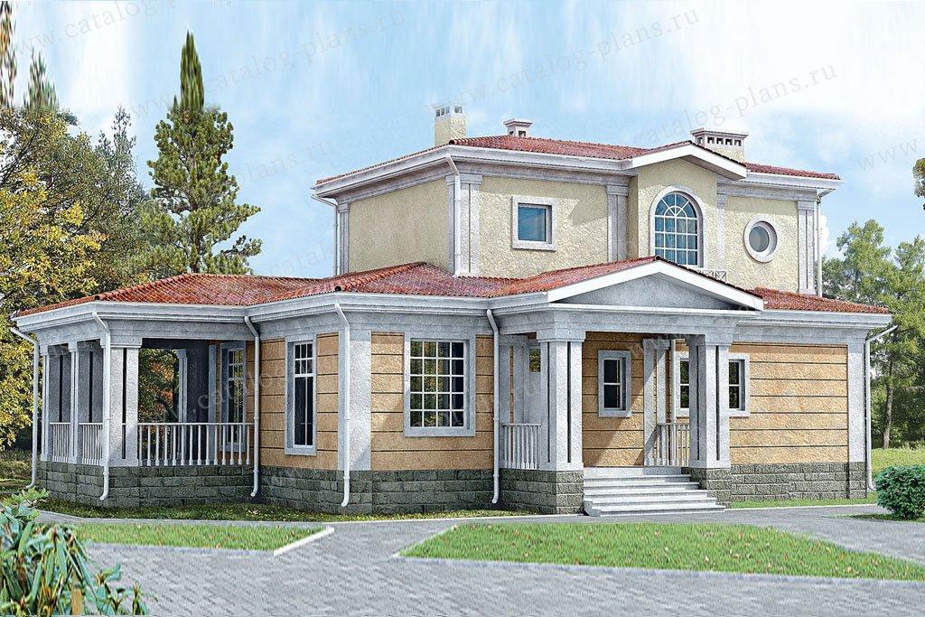 Проект жилой дом #33-23 материал - кирпич, стиль классический