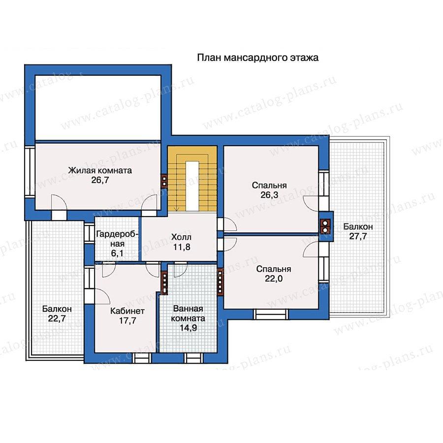 План 2-этажа проекта 33-63