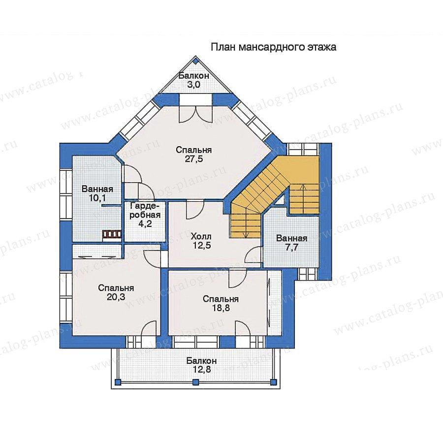 План 2-этажа проекта 33-77