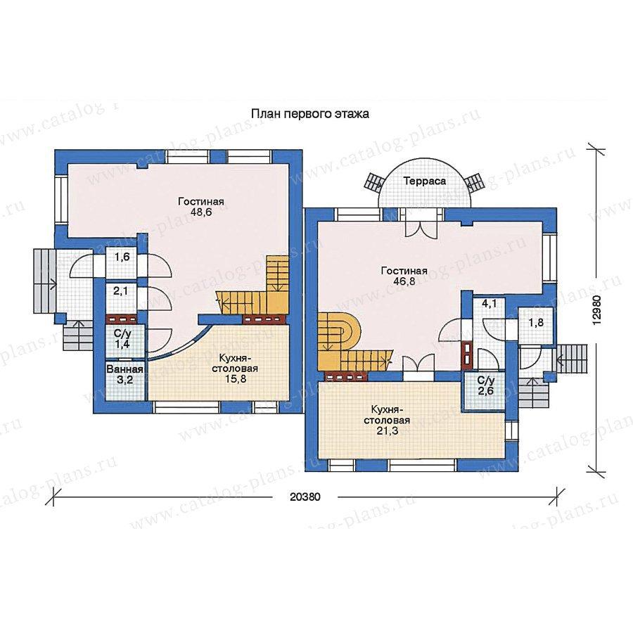 План 1-этажа проекта 33-14