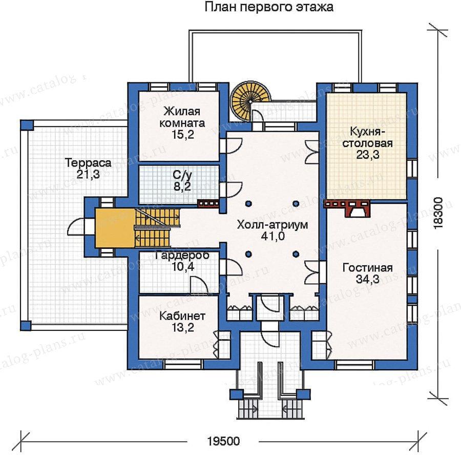 План 2-этажа проекта 33-34