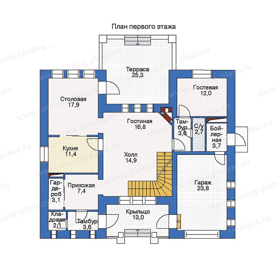План 1-этажа проекта 45-45L
