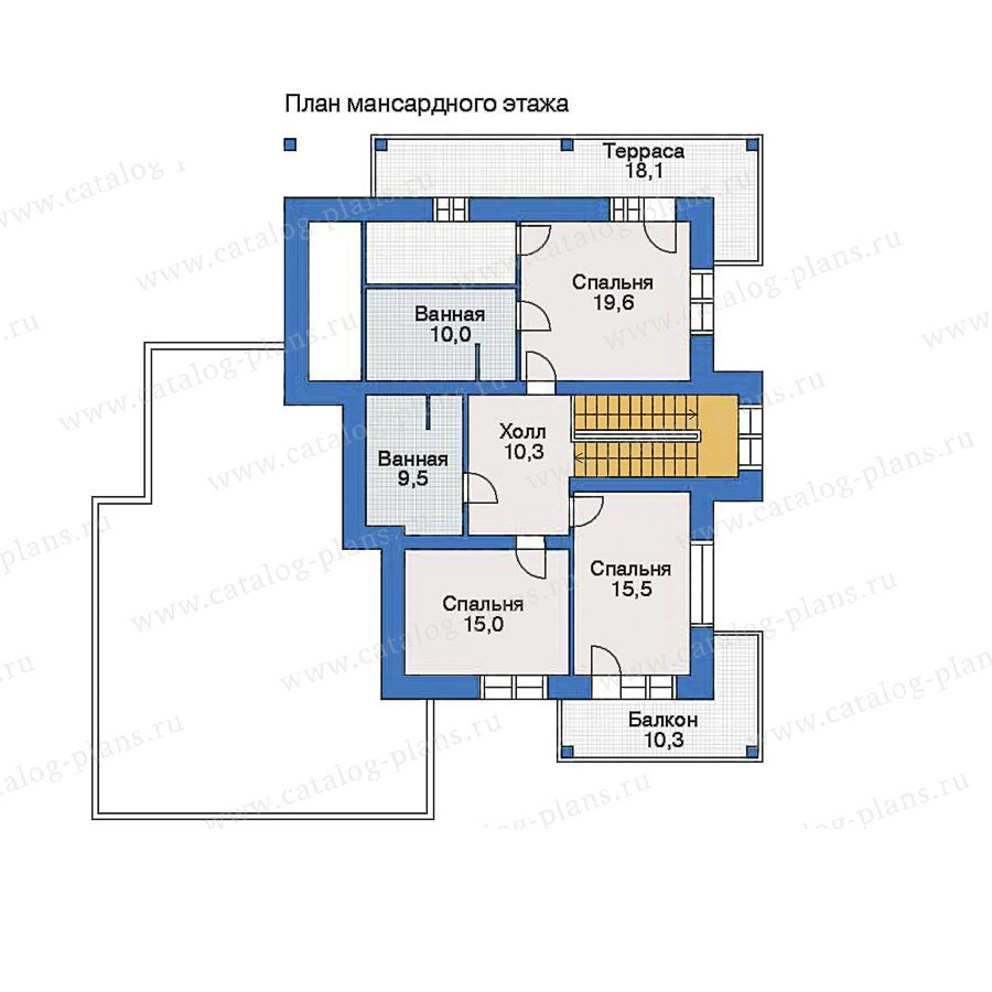 План 2-этажа проекта 33-78