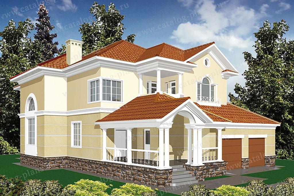 Проект жилой дом #30-58 материал - кирпич, стиль классический
