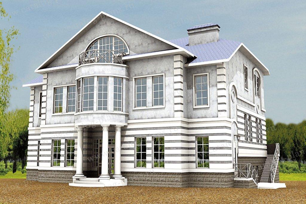 Проект жилой дом #30-88 материал - кирпич, стиль американский
