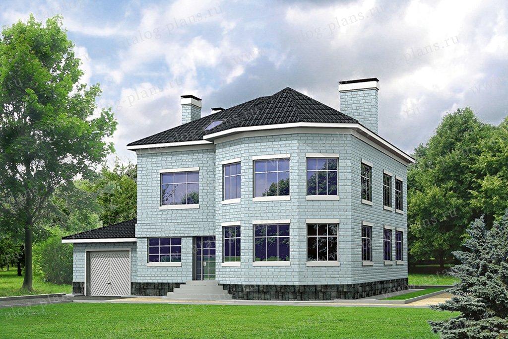 Проект жилой дом #31-63 материал - кирпич, стиль европейский