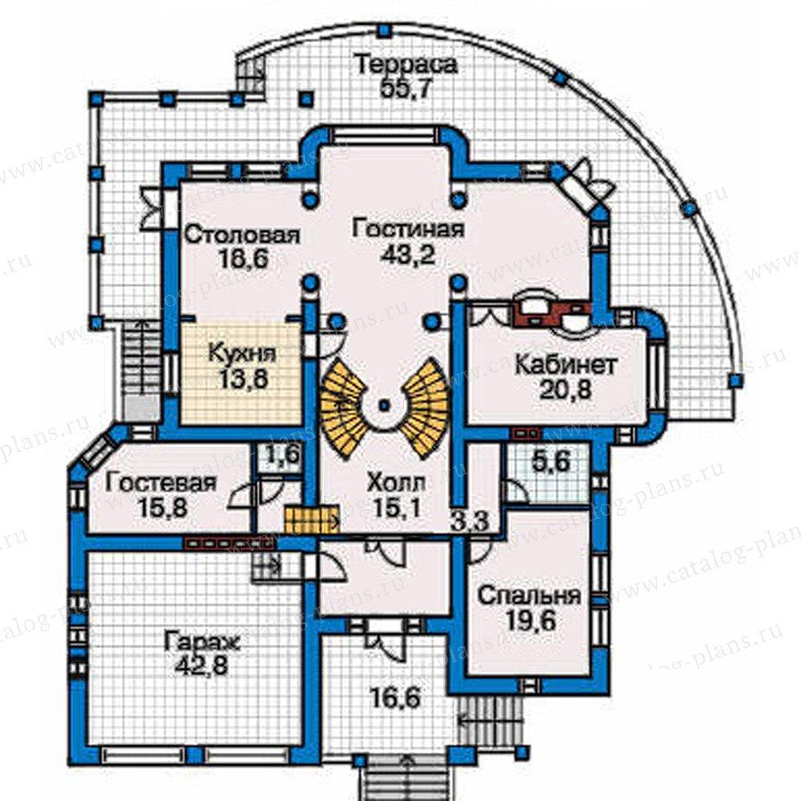 План 2-этажа проекта 31-26