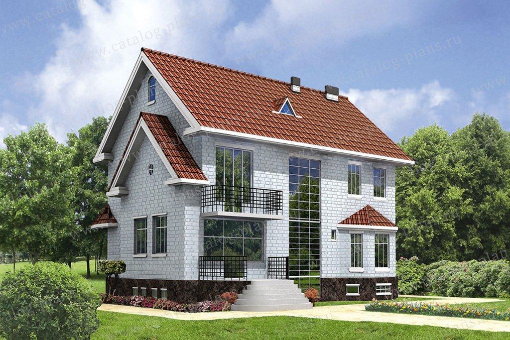 Проект жилой дом #31-61 материал - кирпич, стиль европейский