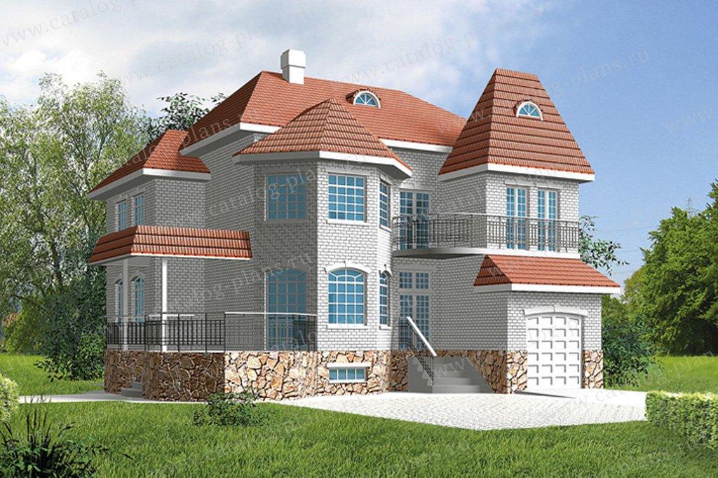 Проект жилой дом #31-81 материал - кирпич, стиль европейский
