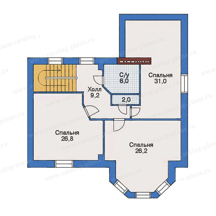 План 3-этажа проекта 31-79