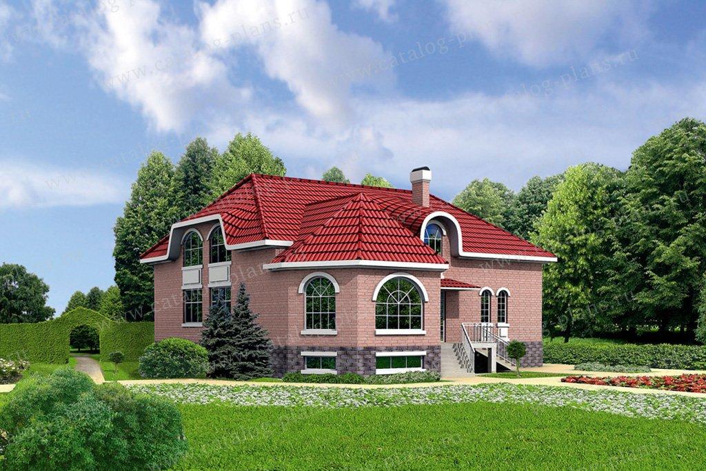 Проект жилой дом #31-71 материал - кирпич, стиль европейский