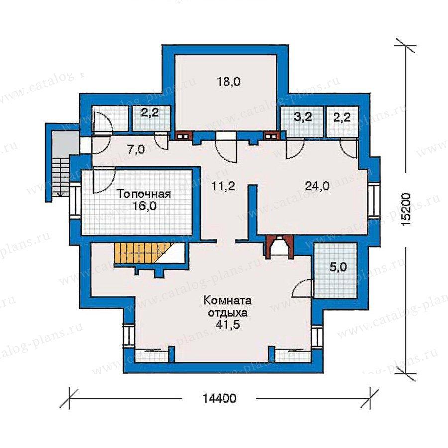 План 1-этажа проекта 30-51