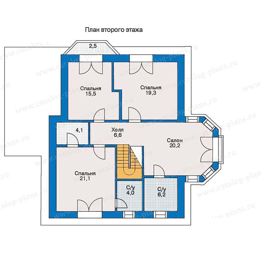 План 2-этажа проекта 30-95