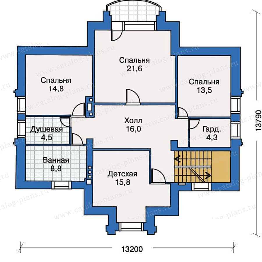 План 3-этажа проекта 30-43