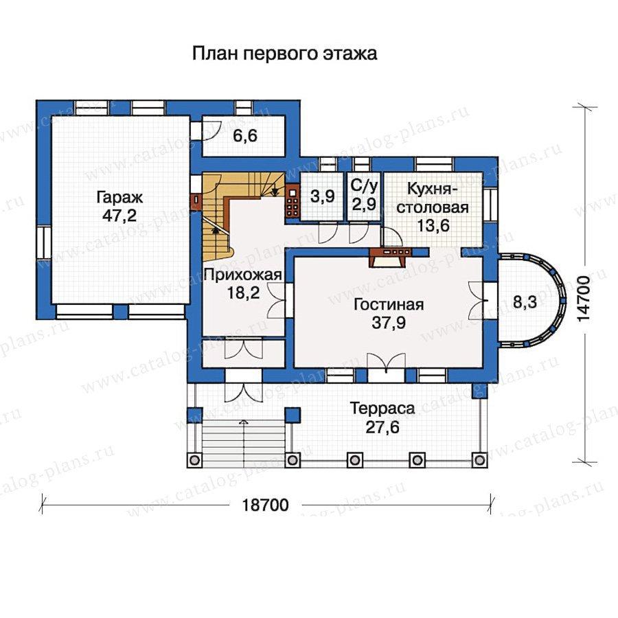 План 2-этажа проекта 30-52