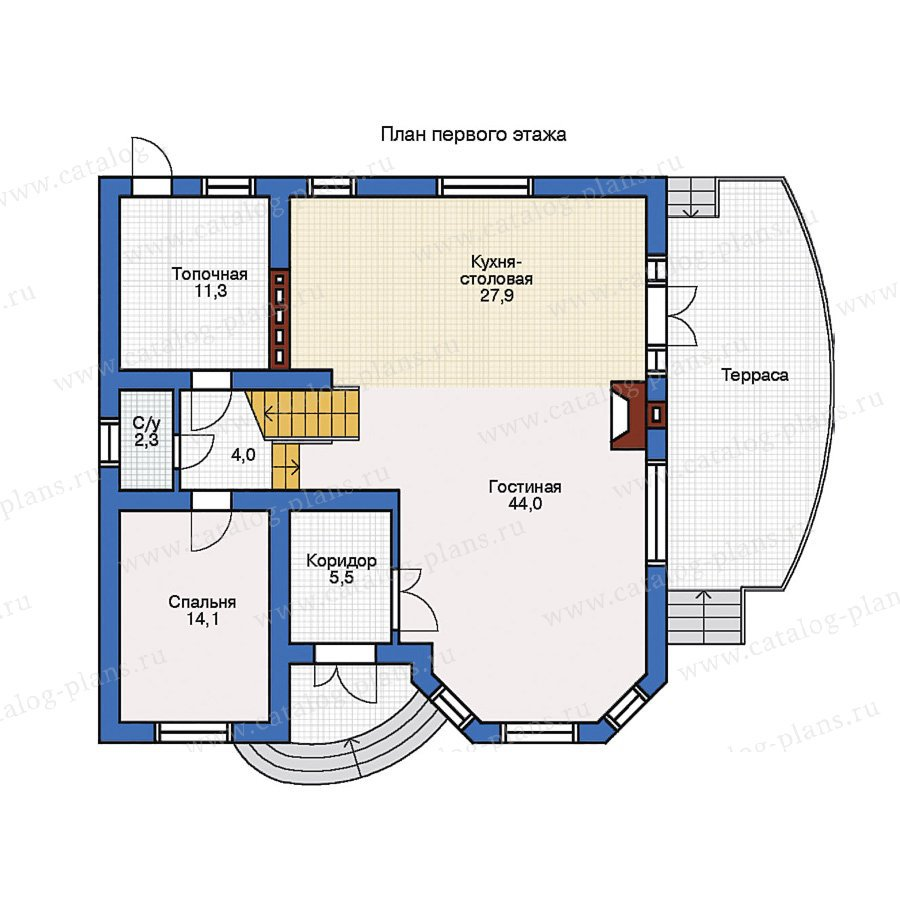 План 1-этажа проекта 31-70