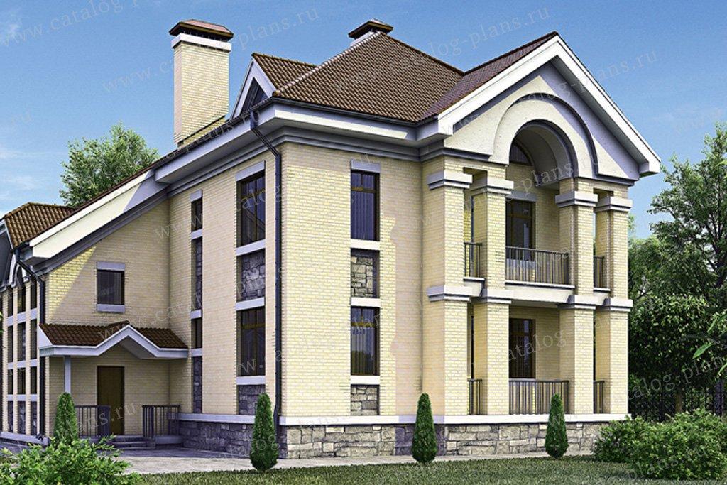 Проект жилой дом #31-91 материал - газобетон, стиль европейский