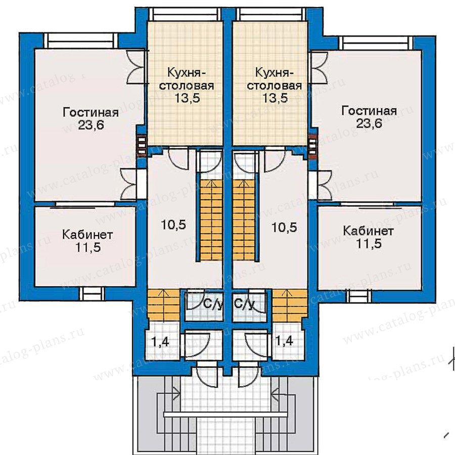 План 2-этажа проекта 30-44