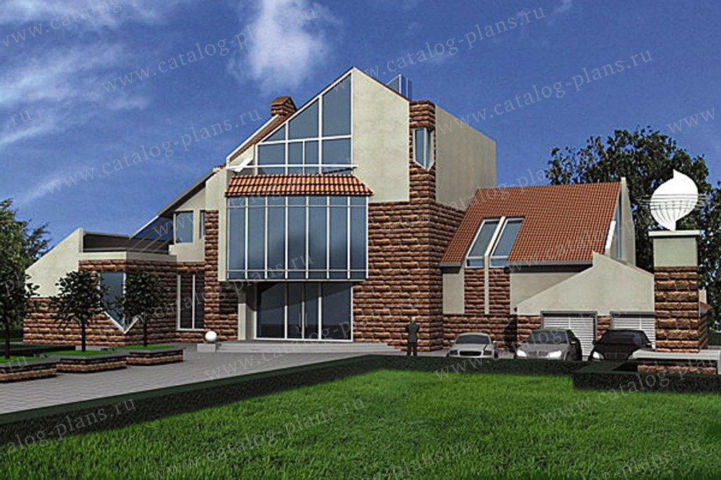 Проект жилой дом #31-28 материал - кирпич, стиль современный