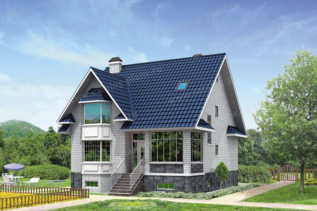 Проект жилой дом #31-90 материал - кирпич, стиль европейский