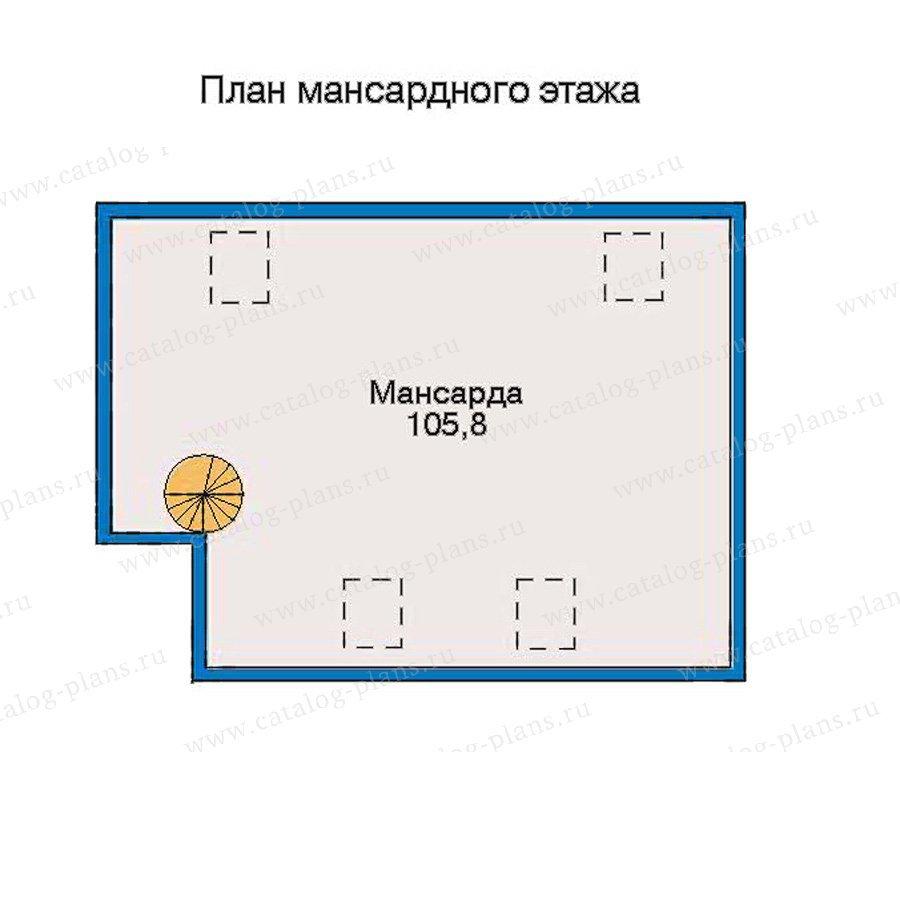 План 3-этажа проекта 30-58