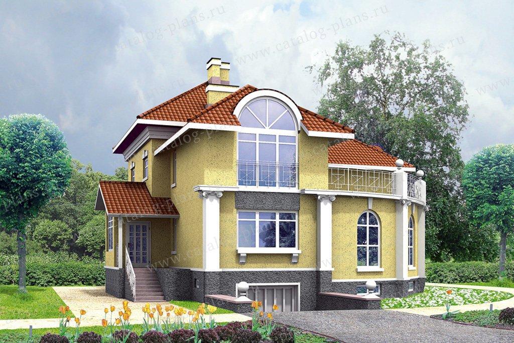Проект жилой дом #30-94 материал - кирпич, стиль классический