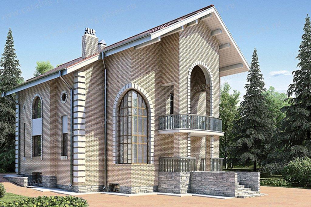 Проект жилой дом #30-51 материал - кирпич, стиль итальянский