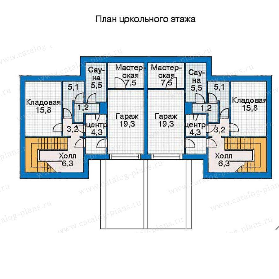 План 1-этажа проекта 30-97