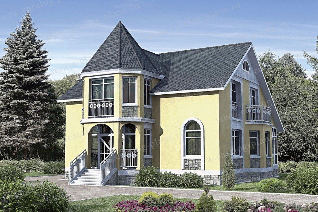 Проект жилой дом #30-95 материал - газобетон, стиль классический