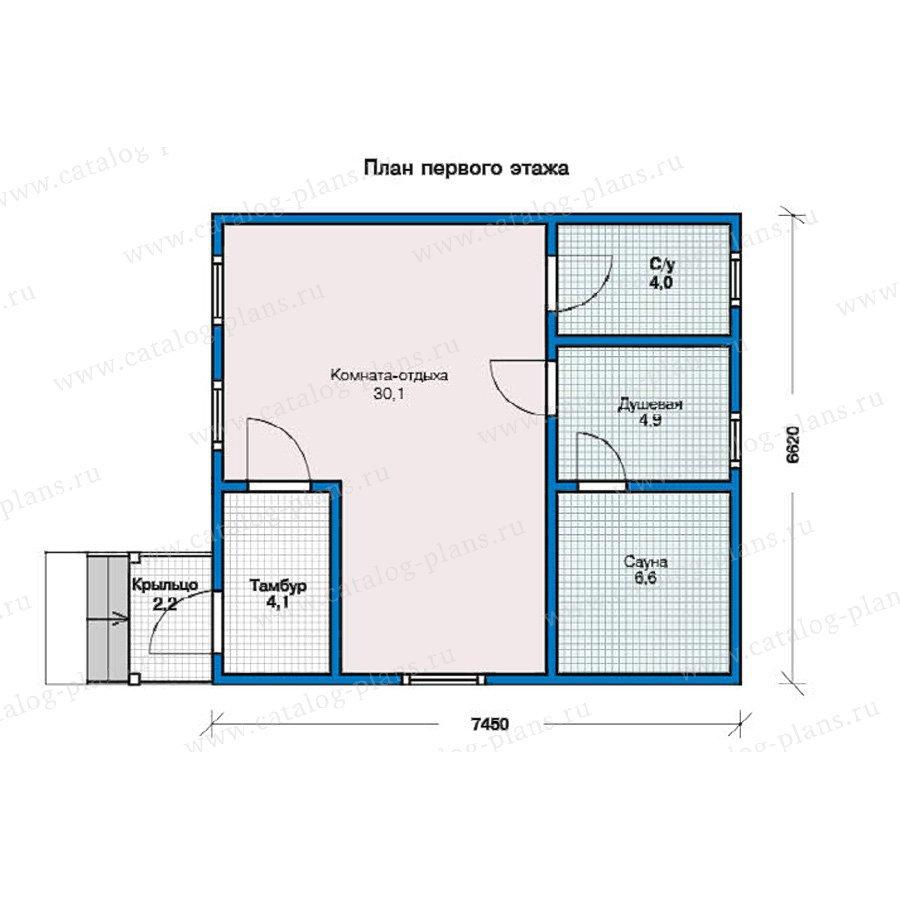 План 1-этажа проекта 13-01