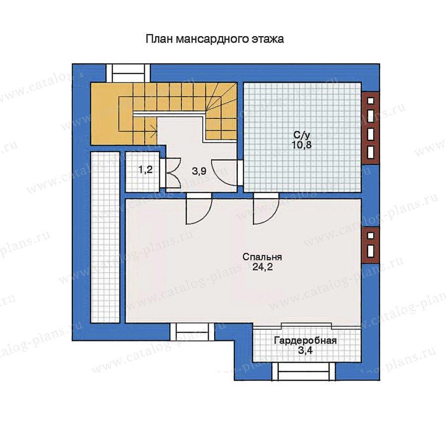 План 2-этажа проекта 31-86