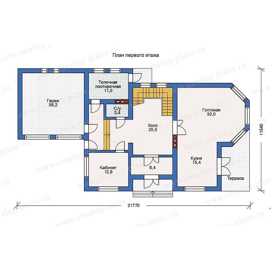 План 1-этажа проекта 31-69