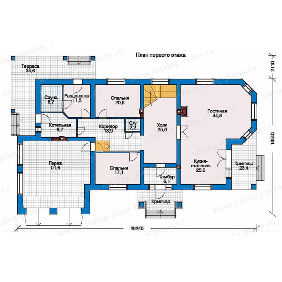 План 1-этажа проекта 31-51