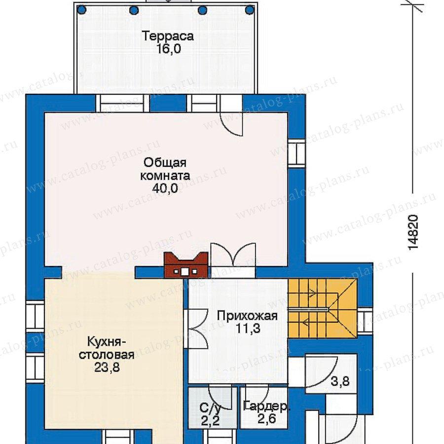 План 2-этажа проекта 30-46