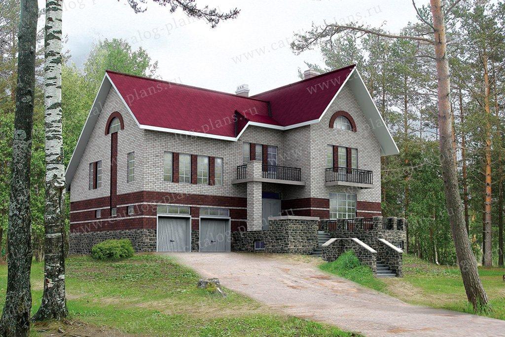 Проект жилой дом #30-53 материал - кирпич, стиль европейский