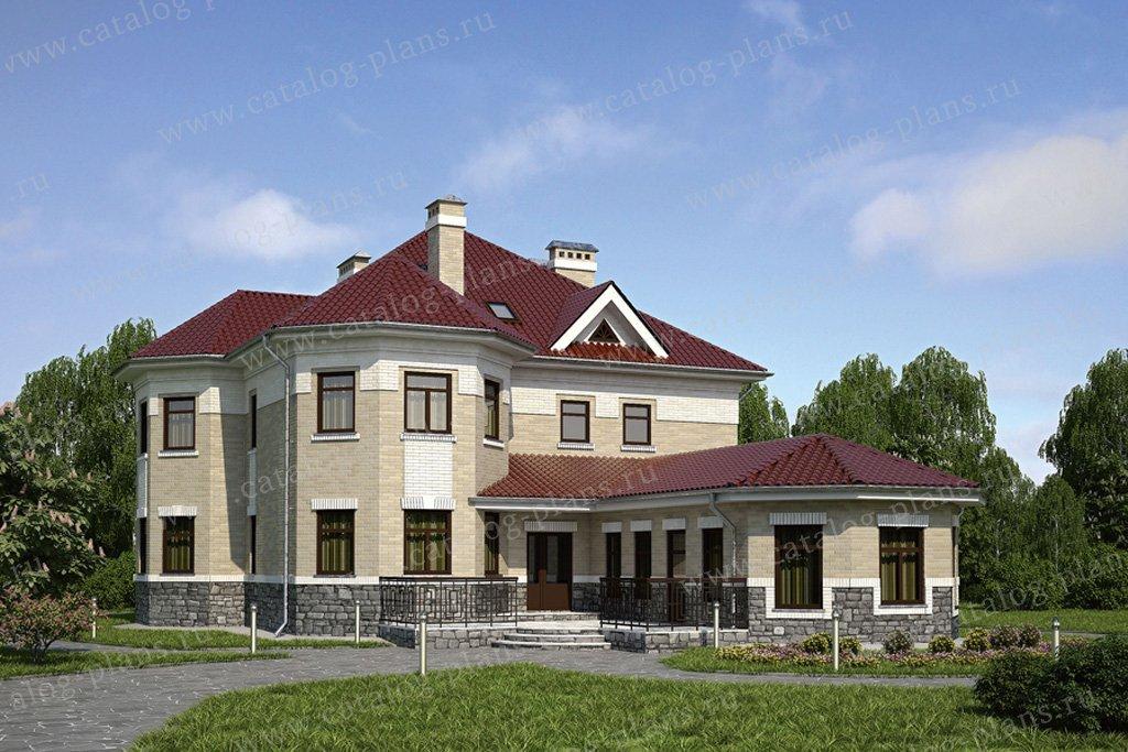 Проект жилой дом #31-40 материал - кирпич, стиль европейский