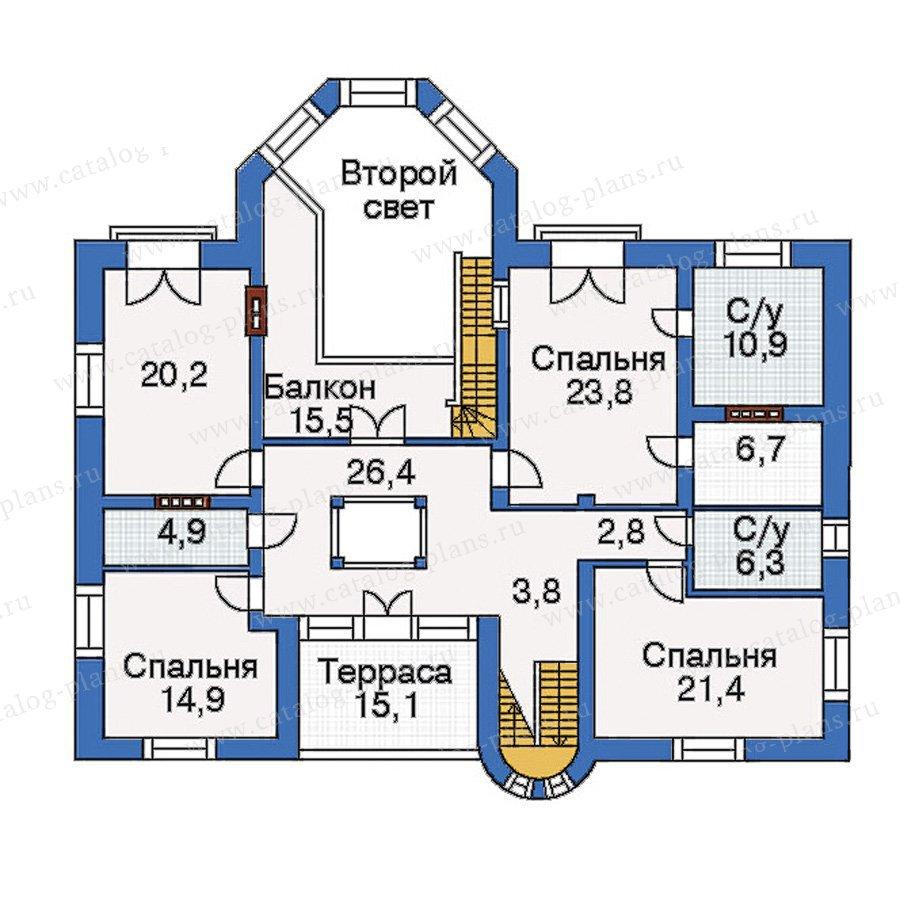 План 3-этажа проекта 31-37