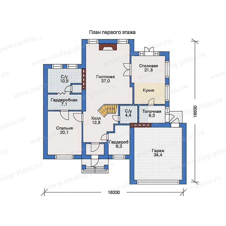 План 1-этажа проекта 31-88
