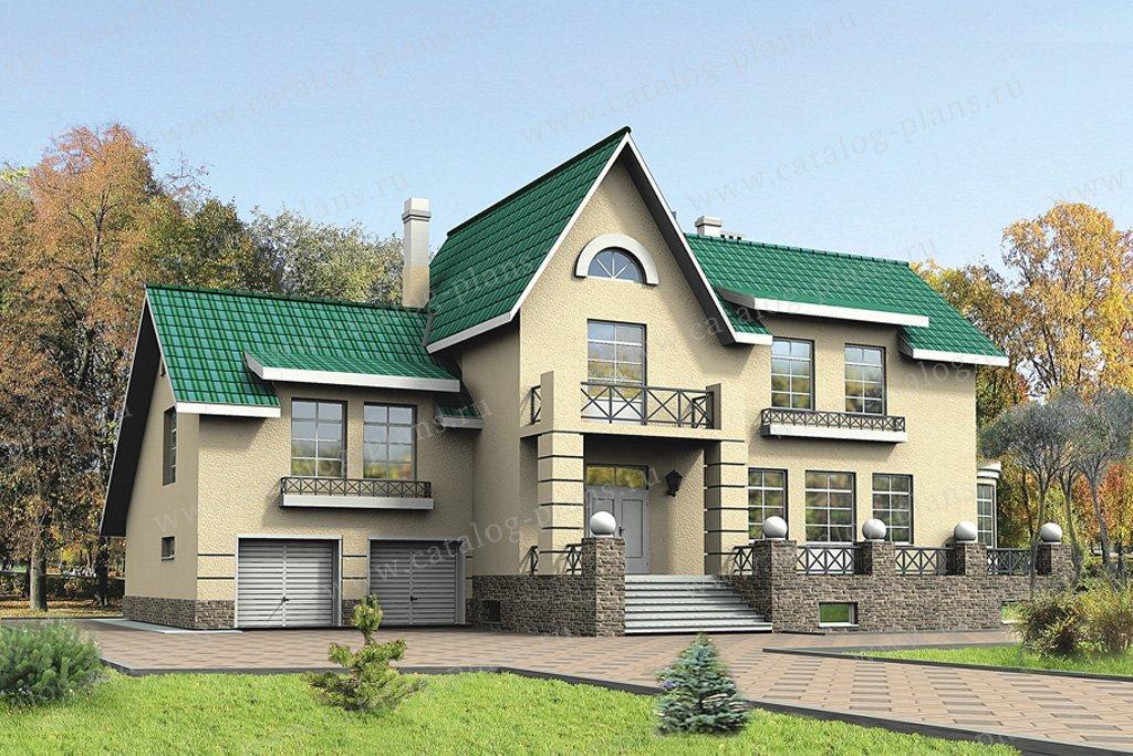 Проект жилой дом #30-52 материал - кирпич, стиль европейский