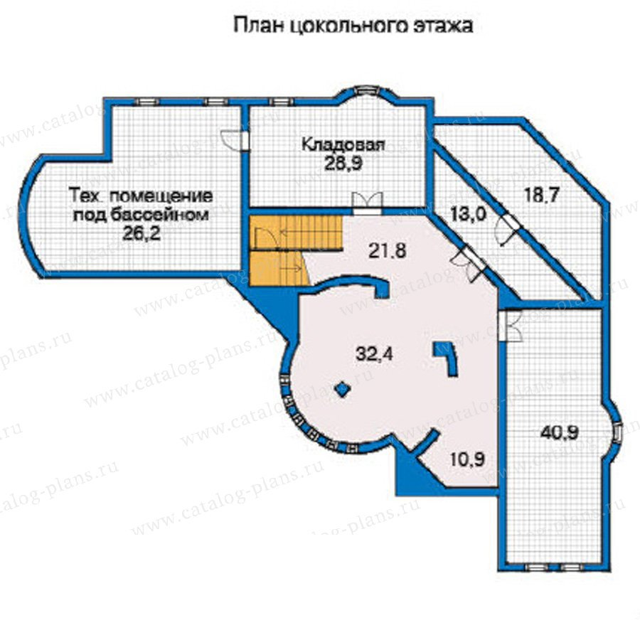 План 1-этажа проекта 31-23