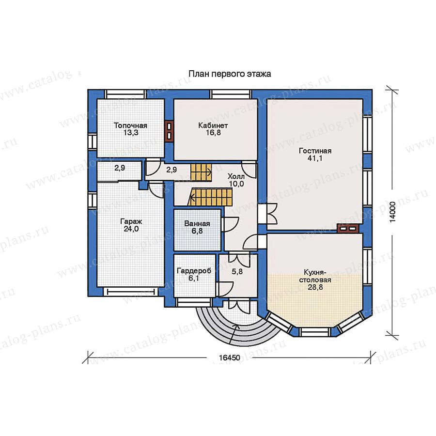План 1-этажа проекта 31-63
