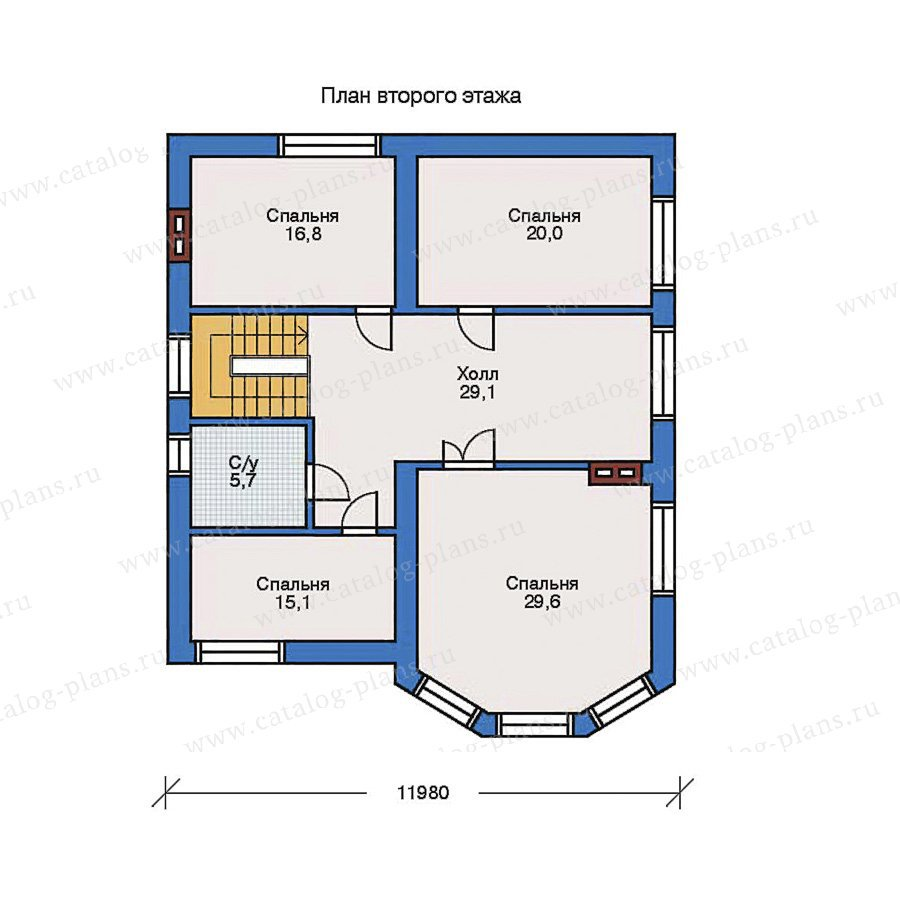 План 2-этажа проекта 31-63